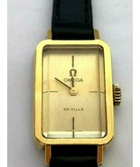 Vintage OMEGA De Ville Gold Plated Mechanical Rectangle Ladie`s Watch 70`s - $515.36