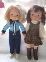 "Fisher-Price 1970's- 15"" Jenny & Mandy- rooted hair- - $50.00"