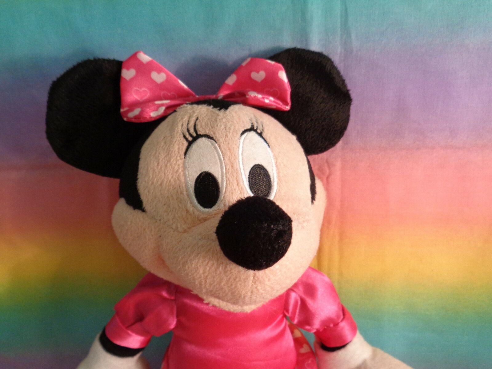 "Disney Kcare Kiu Hung Industries Minnie Mouse Pink Dress Plush Doll 13"" image 3"
