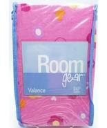 Girls Pink Flower Hearts Window Valance 100% Cotton Fabric 84x13 New - $17.99