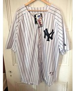 Majestic MLB Authentic NY Yankees Derek Jeter Jersey Size 60 Mens 4X NEW... - $199.95