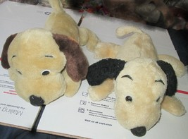 Vintage 1973 DAKIN lot of 2 Plush DROOPER dogs stuffed animal both beige... - $22.99