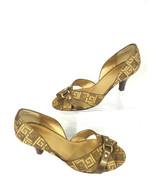 Liz Claiborne Flex HANA Womens 8.5M Brown Gold Peep Toe D'orsay Cone Hee... - $18.66