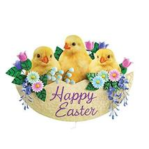 Happy Easter Garden Stake Yard Decoration with Baby Chicks  - £11.88 GBP