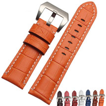Orange Strap Bracelet PAM Panerai Luminor band 24mm Croco leather grain ... - $39.99