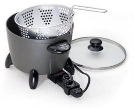 Food 120Volt Kettle Stew Deep Fryer Fry Multi Cooker Steamer Basket Set NEW - €47,37 EUR