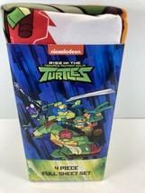 TMNT Rise of the Teenage Mutant Ninja Turtles Full Microfiber Sheet Set 4 Piece - $10.07