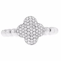 0.44ct Round Cut Diamonds 14k White Gold Midi Ring One Size - £404.33 GBP