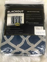 """Eclipse Thermaweave Black Out Window Panel 37"""" X 84""""INDIGO Isante - $34.60"""