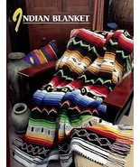 Indian Blanket Afghan Annie's Crochet PATTERN/INSTRUCTIONS/NEW Leaflet H... - $13.66