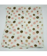 Aden & Anais Pink Brown Swaddle Blanket Baby Circles Swirls Muslin Dots ... - $14.99