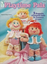 Playtime Pals ~ OOP NEW Crochet 3 Huggable Dolls & Clothes RARE Patterns - $9.89