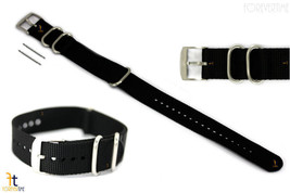 Luminox 3000 22mm Black Nylon Watch Strap Steel Loops(3) 3040 3050 3080 ... - $37.95