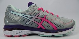 Asics Gel Kayano 23 Size US 9 D WIDE EU 40.5 Women's Running Shoes Silver T697N