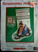 """Vintage Dimensions Renaissance Stocking 16"""" Counted Cross Stitch Kit #84... - $27.69"""