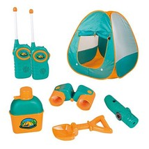 12 Piece Kids Tent Camping Set – Includes Big Tent, Telescope, 2 Walkie - $39.80