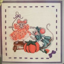 NOS Counted Cross Stitch KIT New Dress 5317 Seamstress Mice Color Graph  - $29.69
