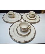 8 Pieces Lenox Potomac ~ 3 dinner ~ 2 saucers ~ 3 cups ~~ fill ins ~~ PRICE DROP - $49.95