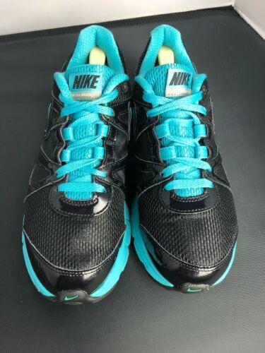 Nike Reax Rocket 2 Running Shoes 454175 004 Black Aqua Womens Size 8.5 image 2