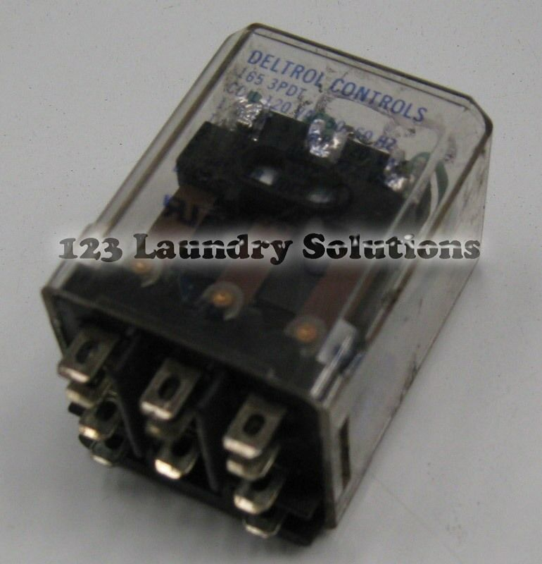 Primary image for Milnor Front Load Washer, Relay 120V #09C01DDD37 [USED]