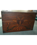 Antique Pennsylvania style Hand Painted Hope blanket Chest Folk Art - $251.65
