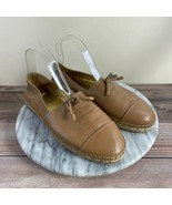 Prada Donna Napa Natural Leather Bow Espadrille Slip On Loafers Womens S... - $139.95