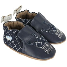 Robeez Soft Soles Baby Shoes You Are Amazing Baby Girls Shoe, Navy, Size... - $23.99