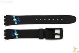 12mm Ladies Blue/Yellow Sailing Design Black Watch Band Strap fit SWATCH... - $11.79 CAD