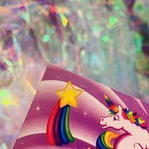 ⚡️SALE  S123 LISA FRANK Markie Unicorn Butterflies Hearts Stars HTF image 3