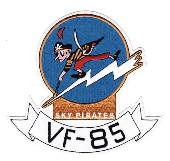 "Primary image for 5"" NAVY VF-85 SKY PIRATES EMBROIDERED PATCH"