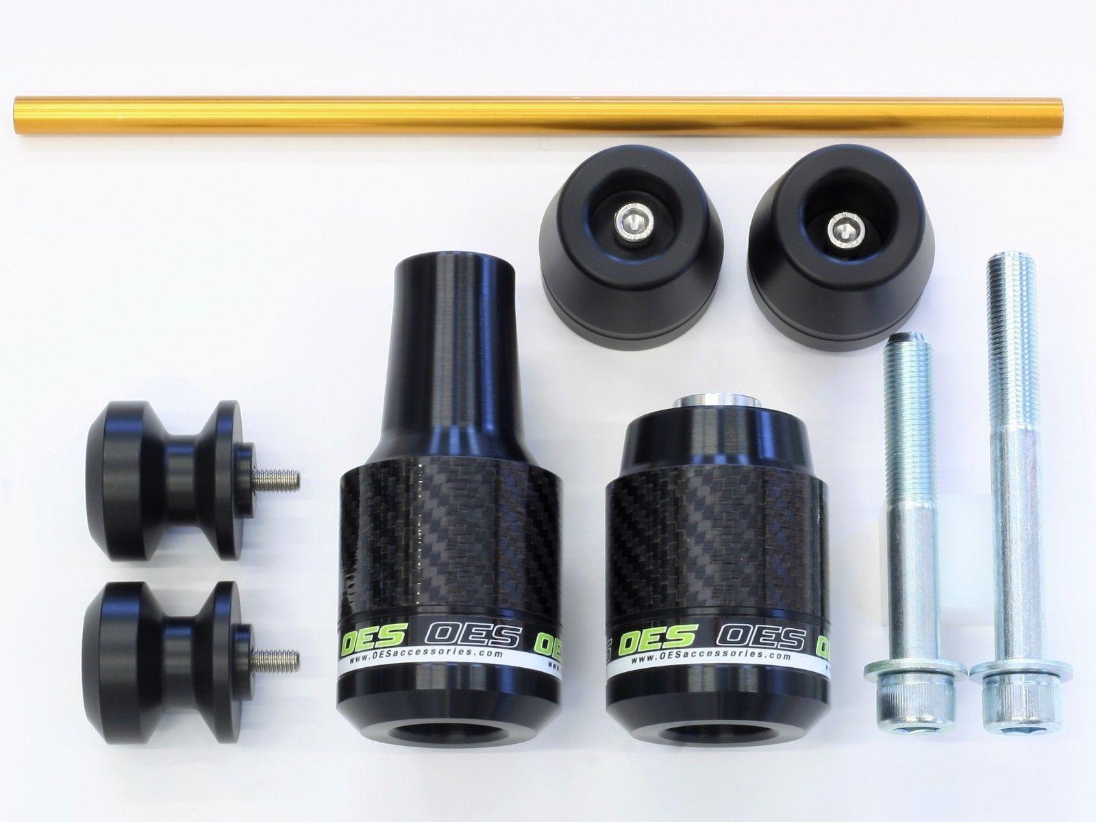 OES Carbon Frame Sliders Spools Fork Sliders 2017 2018 Yamaha FZ-10 MT-10 No Cut