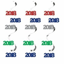 2018 Dizzy Danglers Hanging Decorations Assorted Colors 5 Ct New Years - $5.39