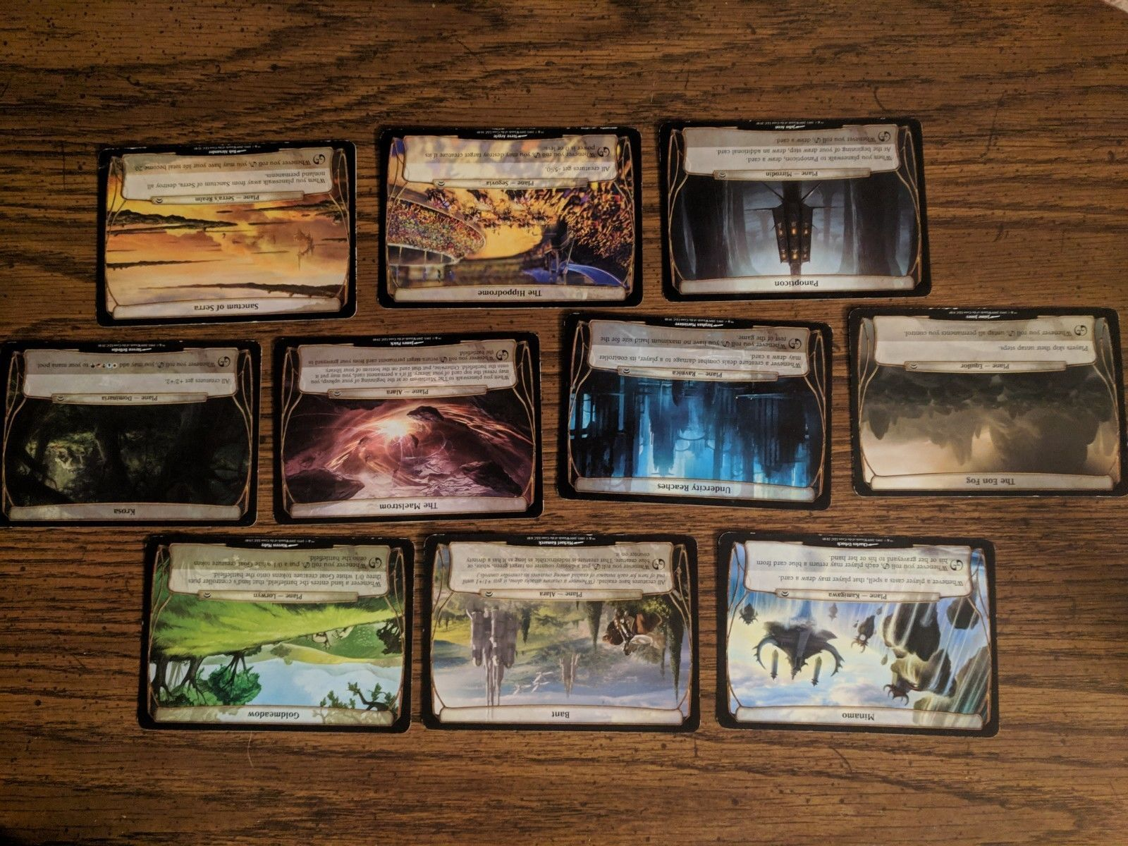 Magic The Gathering Planechase Oversized Cards Lot of 10