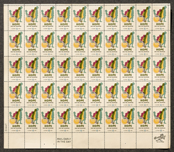 Hope for the Crippled, Sheet of 6 cent stamps, 50 stamps - $7.50