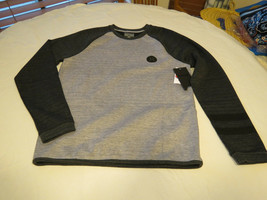 Hurley Men's S sm Long Sleeve shirt MTF0006000 NWT Phantom grey & black ... - $42.76