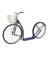 "20"" Adult NAVY BLUE SCOOTER Amish Kick Bike w/ Basket Brakes & Racing Wh... - $312.61"