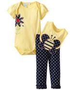 Baby Togs Baby Girls Bumblebee 3 Piece Bib Set - $22.00