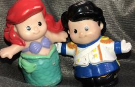 Dismey Little Mermaid Prince Eric Fusher Price Little People Lot Set Htf - $21.28