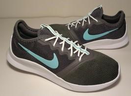 Nike size 6.5 VIALE TECH RACER VTR Grey Green Running Sneakers New Women... - $107.91