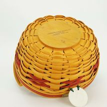 Longaberger 1999 Christmas Popcorn Basket w Protector & Red White Liner 15156 image 9