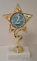 "2nd Place Trophy 7"" Tall As Low As $3.99 Each Free Shipping T03N14 - $7.99+"