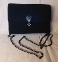 Vintage 1994-5 KAMI & Co Black Art Deco Evening Convertible Clutch Shoul... - $45.00