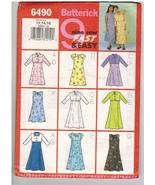Butterick Uncut Sewing Pattern #6490 Girls' Jacket and Dress Sizes 12 14 16 - $7.50