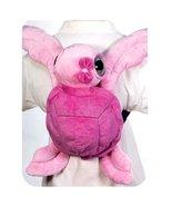 "Fiesta Toys Big Eyed Turtle Travel Buddy 15"" Pink Plush Backpack - $9.99"
