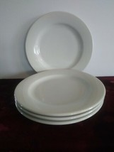Set Of 4 Rego Restaurant Ware Dinner Plates Off White AS IS - $28.04