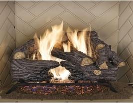 "Fireplace Natural Gas Log Set Vented Fire Place Oak Wood Logs 18"" Oak Re... - $175.44"