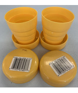 Travel Cup Folding Vintage NOS 1985 Duray Collapse Cup Lot of two - $14.01
