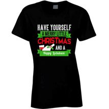 Have A Merry Christmas And A Happy Lockdown Ladies T Shirt image 3