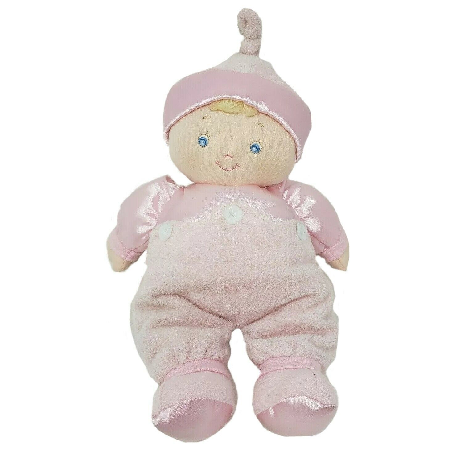 "Primary image for 12"" BABY GUND SATIN DOLLY 58061 STUFFED ANIMAL PLUSH TOY SOFT PINK PAJAMAS DOLL"