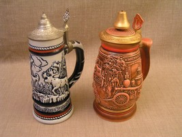 Avon 1989 Tribute to American Firefighters & 1976 Western Wildlife Beer ... - $14.01